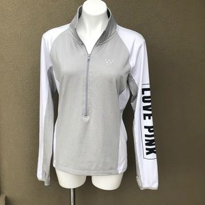 Pink Victoria's Secret Half Zip Sweatshirt Size L